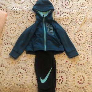 Nike zip up set